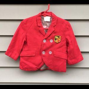 Vintage baby boy coat of arms crest blazer jacket